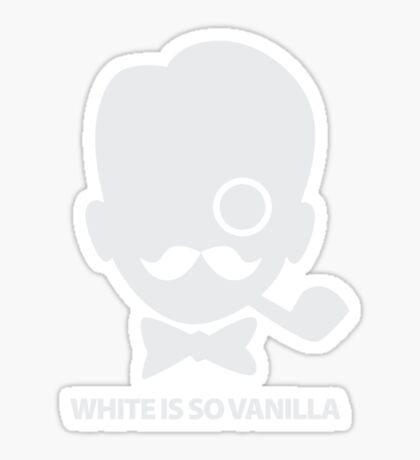 White is So Vanilla Sticker
