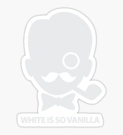 White is So Vanilla Sticker