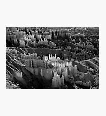 Bryce Canyon in Black and White Photographic Print