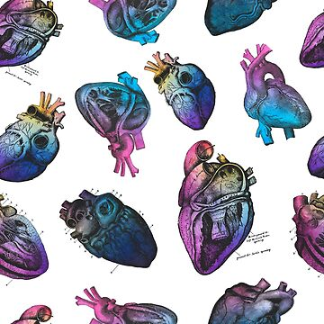 Beautiful Anatomical Hearts by annaleebeer