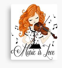 Clothes and accessories for lovers of Violin and Music Canvas Print