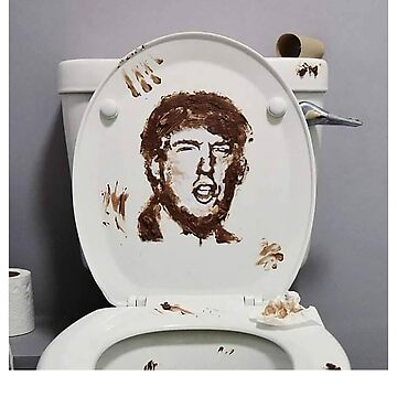 Dump Trump anti donald trump down the toilet funny political shirt by SOpunk