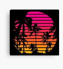 Lienzo Cool 80s Style Tropical Sunset