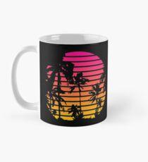 Cool 80s Style Tropical Sunset Mug