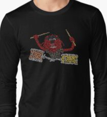 """""""Animal"""" The Crazy Drummer of the Muppet Show Long Sleeve T-Shirt"""