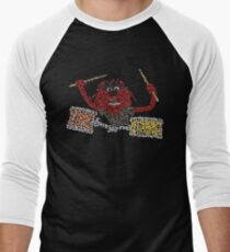 """""""Animal"""" The Crazy Drummer of the Muppet Show Baseball ¾ Sleeve T-Shirt"""