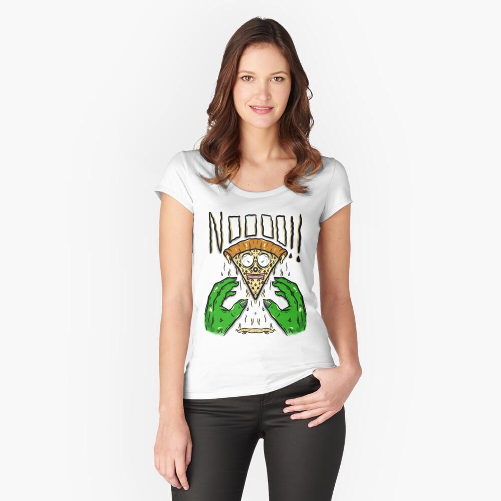 Nee !! Tailliertes Rundhals-Shirt