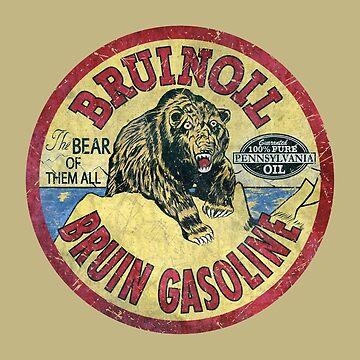 Bear Gasoline Vintage Emblem V01 by Lidra