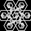 Hexagon spatial illusion  by stuARTconcepts