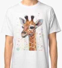 Baby-Giraffe-Aquarell-Malerei, Kinderzimmer-Kunst Classic T-Shirt