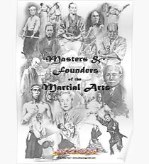 Masters and Founders of Martial Arts calendar Poster