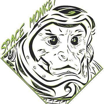 Space Monkey (verde) de FejuLegacy