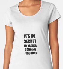 Toboggan Sport Fan Lover Funny Gift Idea Women's Premium T-Shirt