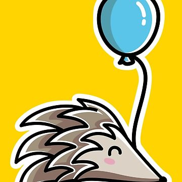 Kawaii Cute Hedgehog With Balloon by freeves