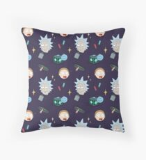 Rick and Morty Pattern Throw Pillow