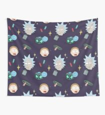 Rick and Morty Pattern Wall Tapestry
