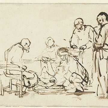 Drawing - The Washing of the Feet, Rembrandt Harmensz. van Rijn, 1640 - 1649  by wetdryvac