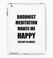 Buddhist Meditation Lover Fan Funny Gift Idea Hobby iPad Case/Skin