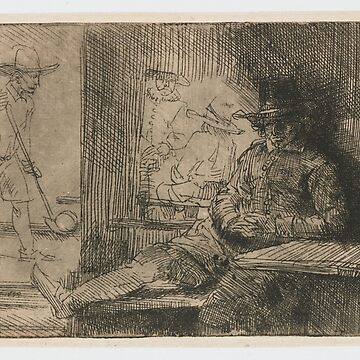 Drawing - The Ringball Player, Rembrandt Harmensz. van Rijn, 1654  by wetdryvac