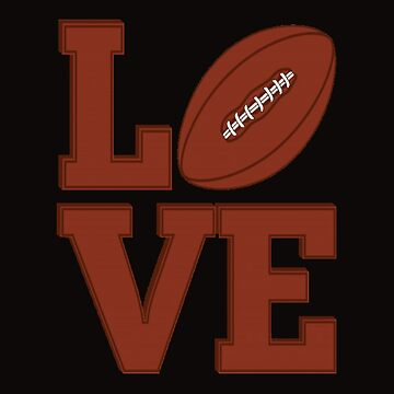 American football love by sager4ever
