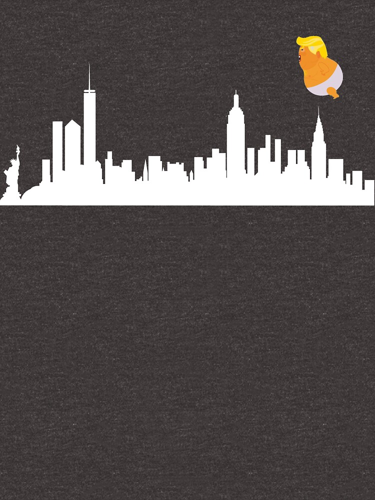 Baby Trump Balloon Blimp Fly Over New York City by DavidLeeDesigns