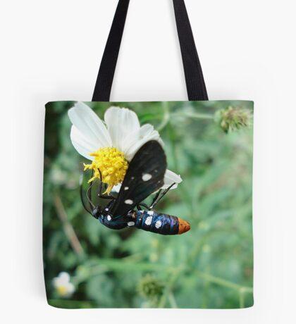 Polka-dotted Wasp Moth Tote Bag