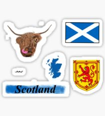 Scotland Sticker Pack (six stickers in one shipment) Sticker