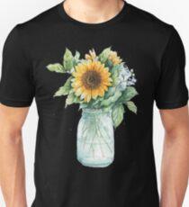 Sunshine Hippie Sunflower Vase - sunflower - Gift For Women | men Unisex T-Shirt
