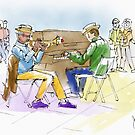 Sketch of Street Entertainment by Judy Boyle