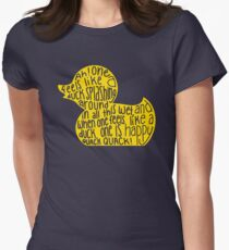 Mulaney duck Women's Fitted T-Shirt