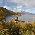 Eilean Donan Castle. Carr Brae. Early Autumn Colours. Scottish Highlands. by Barbara  Jones ~ PhotosEcosse