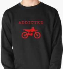Addicted To Dirtbike Motocross Motorbike Dirt Bike Gifts Pullover Sweatshirt