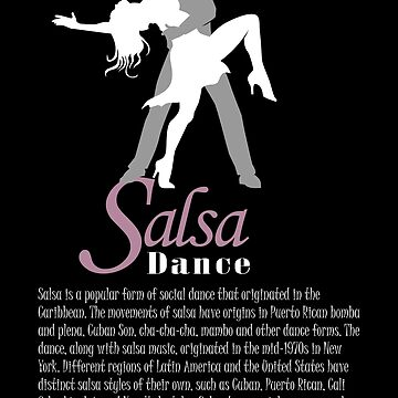 Silhouette of a man and a woman dancing salsa by MegaSitioDesign