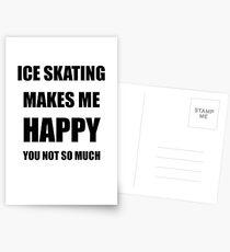Ice Skating Lover Fan Funny Gift Idea Hobby Postkarten
