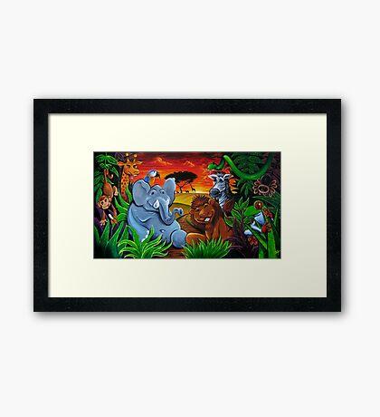 Jungle Mural Framed Print