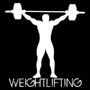 Olympic weightlifting athlete silhouette by MegaSitioDesign