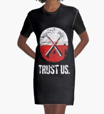 Pink Floyd TRUST US worn Graphic T-Shirt Dress