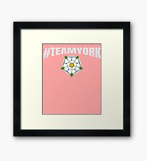 #TEAMYORK War of the Roses York Rose / Yorkist and Ricardian  Framed Print