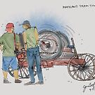 Maryland Steam Show Urban Sketch by Judy Boyle