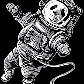 Astronaut Panda in Space Panda Bear Astropanda by WWB2017