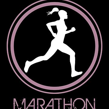 Illustration of a woman silhouette running a marathon by MegaSitioDesign