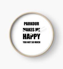 Parkour Lover Fan Funny Gift Idea Hobby Clock