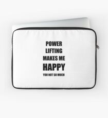 Power Lifting Lover Fan Funny Gift Idea Hobby Laptop Sleeve