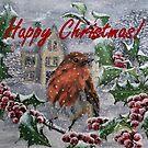 Happy Christmas Robin Card by EuniceWilkie