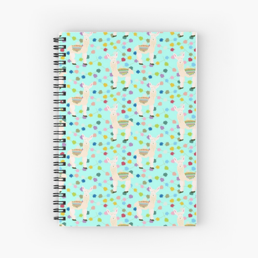Llama Party! Spiral Notebook