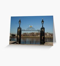 Greenwich pier gate Greeting Card