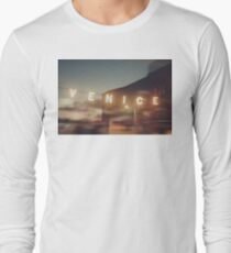 Venice Beach, vintage, oceanside, people,  beach photography, California photography Long Sleeve T-Shirt