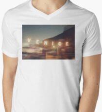 Venice Beach, vintage, oceanside, people,  beach photography, California photography Men's V-Neck T-Shirt