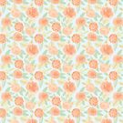 Watercolor Peach Florals by southerlydesign