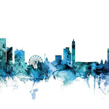 Birmingham England Skyline by ArtPrints